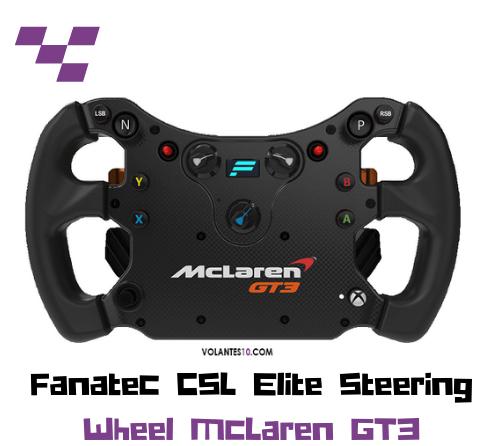 Aro Fanatec CSL Elite Steering Wheel McLaren GT3