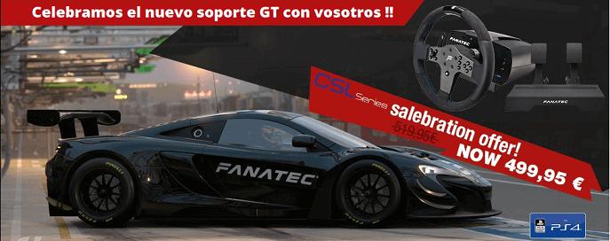 Nuevo soporte Gran Turismo para la serie CSL PS4