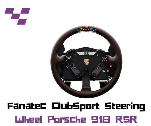 Aro Fanatec ClubSport Steering Wheel Porsche 918 RSR