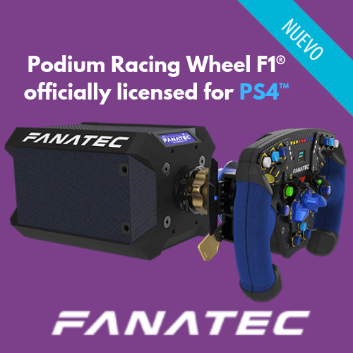volante Podium Racing Wheel F1® - Licencia Oficial PS4™